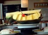 回転寿司屋で。バイナポー!