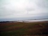 九頭竜川河口から日本海を臨む