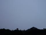 2009年2月22日午後5時半ちょうどの南の空