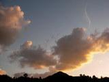 秋の夕空(午後4時50分)