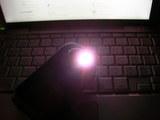 携帯電話のライト