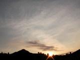 16時01分の夕陽