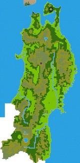 ドラクエ風東北地方地図