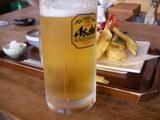 まずは生ビールで乾杯!