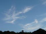 午後6時59分の南の空