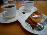 食後のコーヒー(ケーキはサービス)
