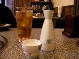 2.ウーロン茶と燗酒で乾杯