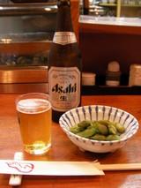 1.ビールと黒茶豆