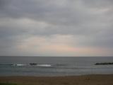 お盆過ぎた夕方6時過ぎの海