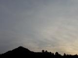 2009年2月28日午後5時23分の南の空