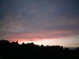 夕焼け(午後5時33分の西の空)