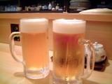 生中で乾杯