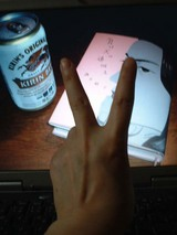 PC壁紙と左手06.04.14