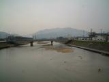 白橋から野坂山をみる