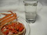 蟹と日本酒