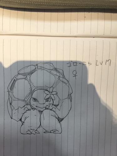 【画像】俺より可愛くゴローニャの絵書けるやついんの?www