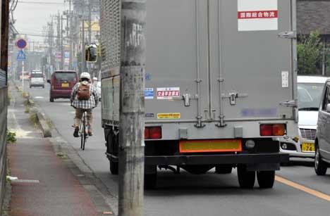 歩行者「自転車は車道走れ ...