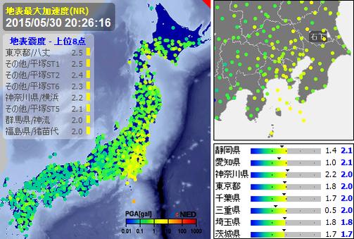 小笠原沖地震 M8.5→M8.1、震源深さ590km→682kmに修正