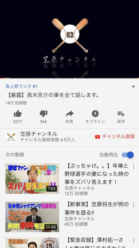 【朗報】Youtuber笠原将生さん、うっかりYoutubeの頂点に立ってしまう