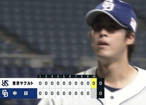 【悲報】与田監督、先発を引っ張る事を覚えたら梅津を10回まで投げさせてしまう