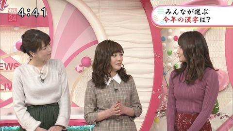 テレの笹崎アナ、早朝からとんでもない胸を晒してしまう…!