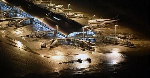 【最新】台風24号、関西国際空港が凄いことになってる・・・