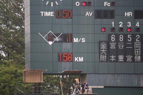 佐々木のMAX163キロ←中日のスピードガンだけ 奥川のMAX158キロ←球場の誤作動って事で取り消し