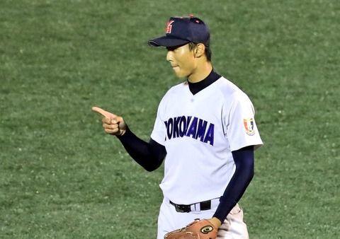 横浜高校の144キロ右腕土生、ベンチ外で引退試合に臨む
