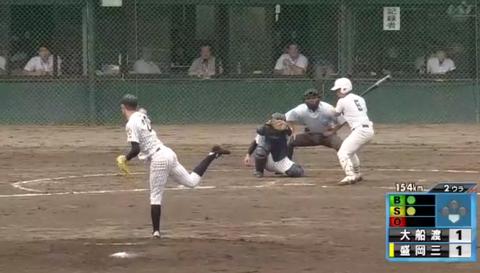 大船渡高校の佐々木(2年)、自己最速の154キロマーク!岩手高校野球にまたも怪物投手