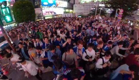 【W杯】渋谷がやばい…日本vsコロンビア戦後にとんでもないことが…