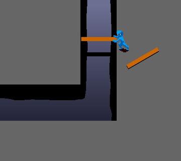 【問題】板を使って堀の内側に渡りたいのだが、板の長さがギリギリ足りない