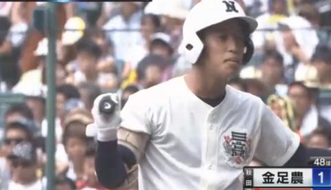 【悲報】日大三高の打者、死球狙いで避けない