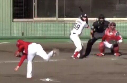 【悲報】戦力外になったカープ鈴木寛人の投球、あまりにもヤバい