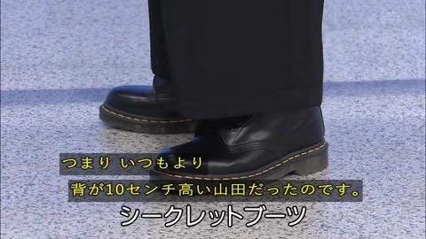 「植物に学ぶ生存戦略2」シークレットブーツを履く山田孝之