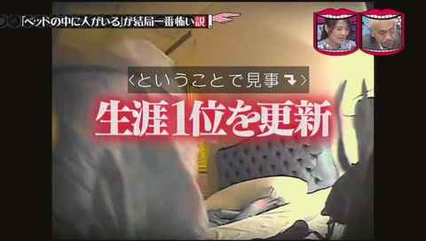 水曜日のダウンタウン「ベッドの中に人がいる が結局一番怖い説」ジャングルポケット斉藤