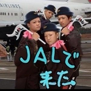 JALで来た