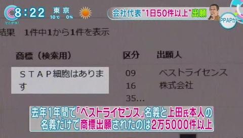 ベストライセンス名義と 上田氏本人の名義だけで 25000件
