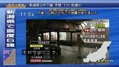 新潟地震 NHK村上支局