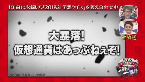 『クイズ☆正解は一年後 2018』次回予告シリーズ ドラゴンボール ノブ の回答