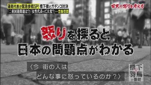 橋下×羽鳥の番組 蓮舫が登場の回 (165)