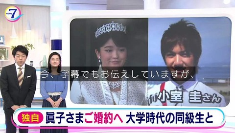 眞子さま結婚 NHKニュース