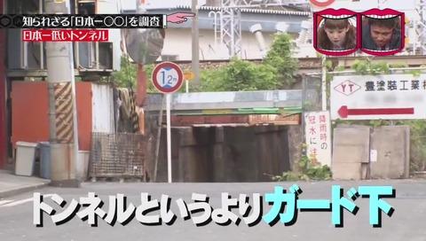 「日本一低いトンネル」 大阪市 田川北