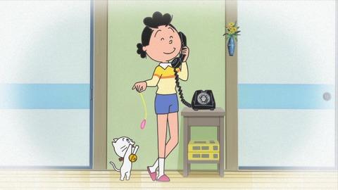 ショートパンツを履いているサザエさん