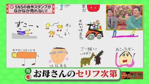 マツコ&有吉の怒り新党 投稿者ひとみ LINEスタンプ「小学生の息子の絵」