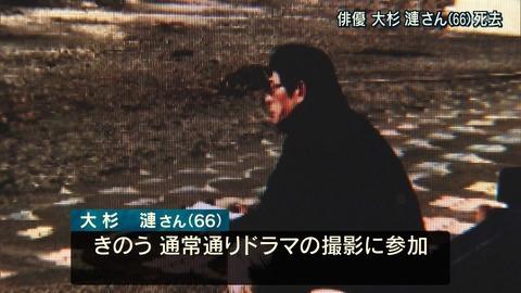 テレビ朝日 大杉漣 死亡 報道