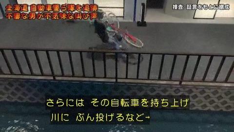 列島警察捜査網THE追跡 自転車蹴り倒し男 CG まるでスト2の動き