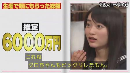 「しくじり先生」クロちゃん 親から毎月25万円もの仕送り