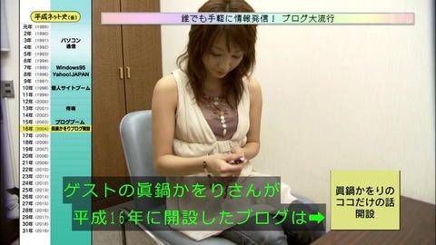 「平成ネット史」画像「ブログの女王 眞鍋かをり」