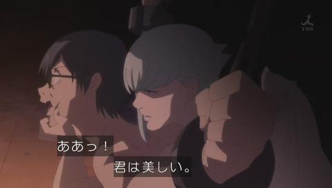 アニメ「魔法少女サイト」兄貴と刑事のシーン 画像