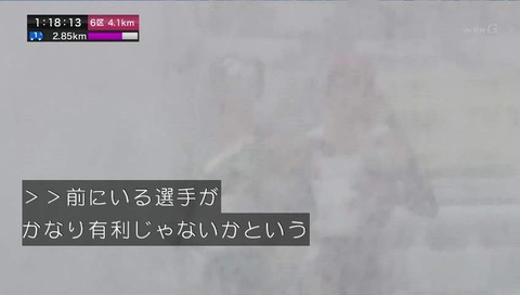 NHK 第35回 全国都道府県対抗女子駅伝 雪がすごい